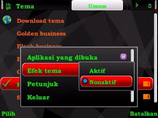 Memasang Tema Effect Di Menu Ponsel Symbian